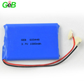 3.6v Rechargeable lithium ion battery 603448 1000mah hard case battery with PCB protection