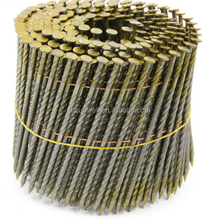 Hot Sale 15 Degree Coating Coil Nails Wire Welded Wooden Pallet Coil Nails