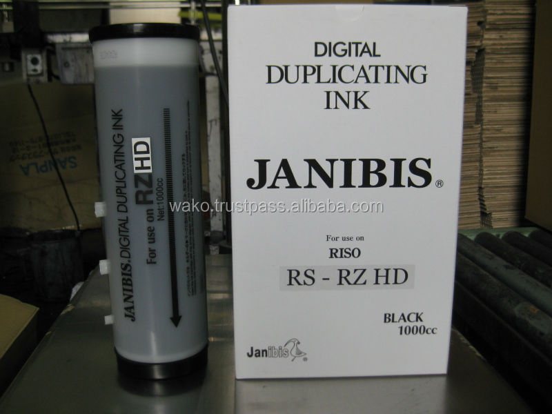 Digital duplicating ink for Riso RZHD, machines used in furniture manufactufacturing