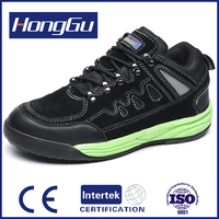 high quality stylish genuine leather active trainer safety shoes with en20345