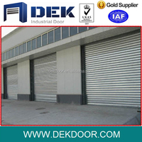 Galvanized steel finished surface aluminum rolling shutter door