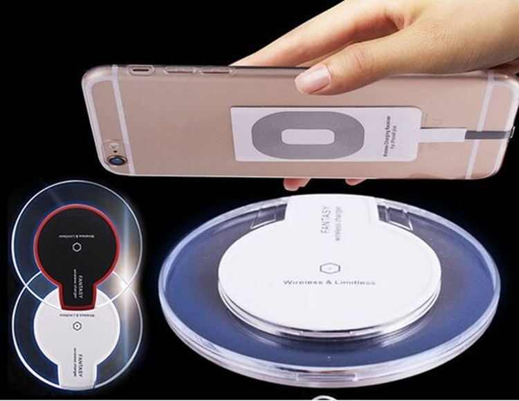 Transparent qi wireless charger for samsung galaxy s7 edge wireless charger for samsung s7 / s6 edge plus / s6 edge / s6 / note5