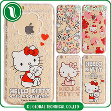 2015 New fashion design case Soft tpu hello kitty case for iphone 6, hello kitty case for iphone 6