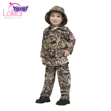 Professional custom children role play costume uk plus size,kids army cosplay costume for halloween