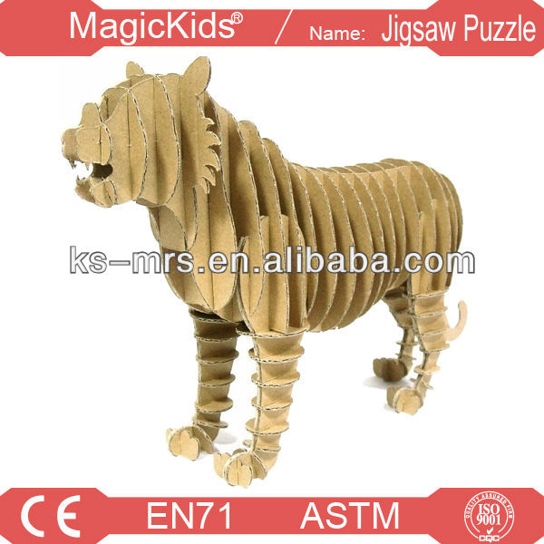 Paper animal, cardboard 3d puzzle animal,penguin model cardboard 3d puzzle animal