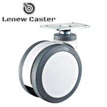 Caster wheel and trolley
