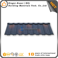 Hot cheap low cost roof tiles stone coated galvalume steel roofing sheets Philippines prices