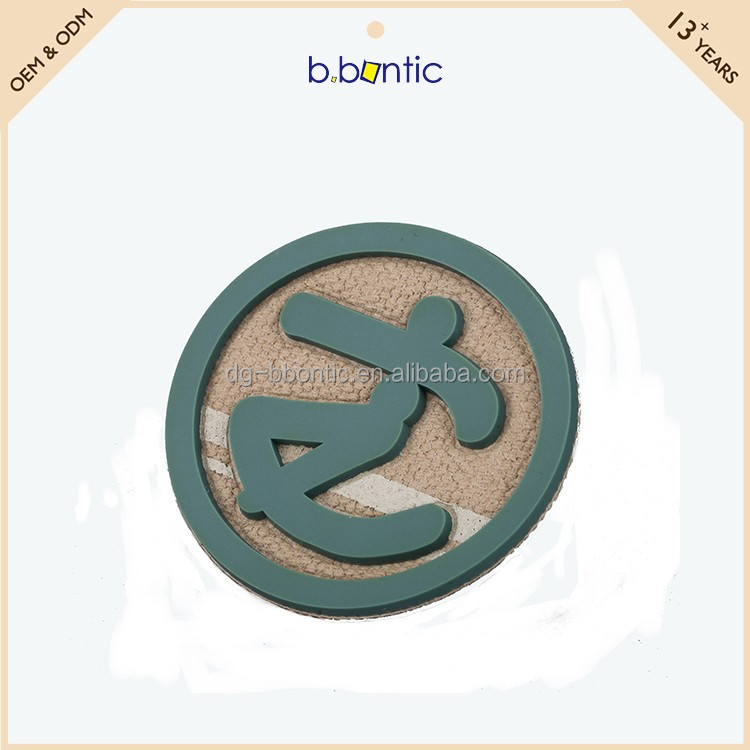 trendy rubber printing fabric fancy badge and insignia