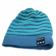 2017 ice cream warm beanie hat cap wireless bluetooth headphones for man and lady