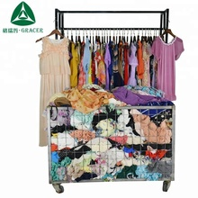 Recycling 100Kg Used Silk Dress Clothing Cambodia Style Second Hand Clothing in Bales