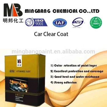 Heat resistant high gloss automotive clear coat