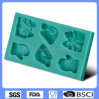 silicone cake decorating tools fondant mold chocolate molds Christmas gloves hat Cake molds CD-F331