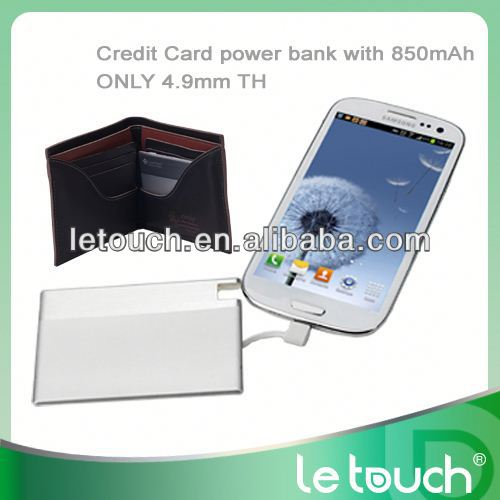 Credit Card Size ferrari power bank 850mah for Sumsung/iphone