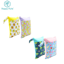 Happy flutecheap classic cotton canvas travel cloth nappy diaper swimsuit wet dry bag with pockets
