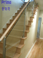 Cheap deck railings indoor stair handrails with handrail support brackets