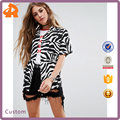 OEM short sleeve pattern lady blouse fashion,latest printed blouse designs