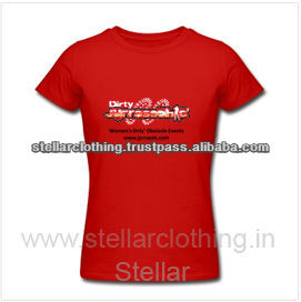100% Cotton Women's Promotional t-shirts