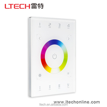 LTECH DMX512 RF Wireless WIFI distant control Remote control RGBW Touch Panel compatible suitable for all types of wall boxes