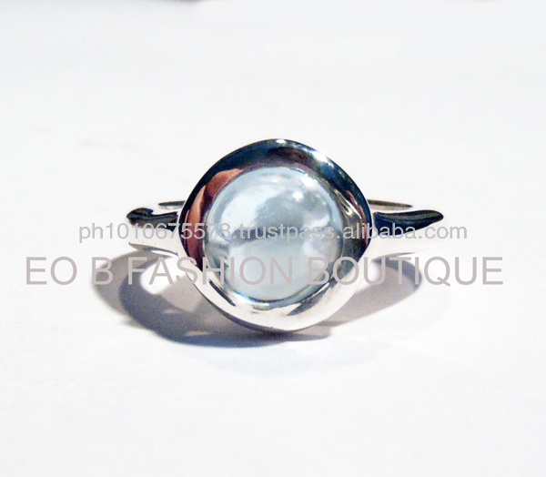 GWR 58 Sterling Silver 925 Rectagle Shape Coloured Gemstone Ring