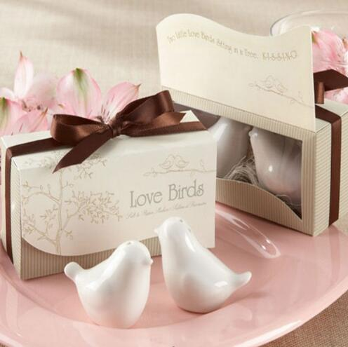 Love birds style salt and pepper shakers wedding door <strong>gifts</strong> for guests