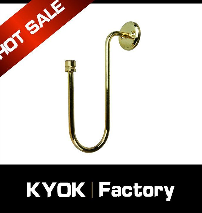 KYOK high quality popular metal curtain poles,modern curtain rod curtain hooks,bathroom/bedroom curtain rod accessories