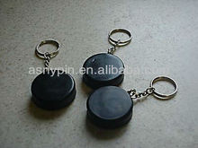 3 Ice Hockey Mini Puck Keychains - GREAT GIFT
