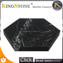 Hexagon Black Marble Coaster