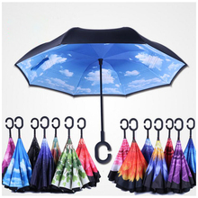 Double Layer Inverted Reverse Folding Umbrella
