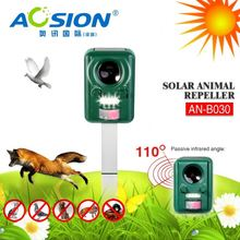 Aosion patent 2year warranty solar ultrasonic raccoon chaser with CE ROHS BSCI for dog cat deer bird
