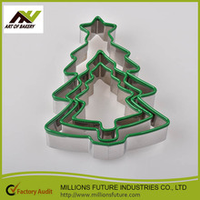 2017 New Christmas tree amazon best seller 3pcs sugar fondant cookie cutters