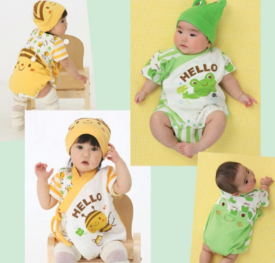 Hotsale infant clothes shot sleeve animal design bodysuit Baby clothing designers