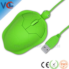 Wired Turtle Mini Mouse Computer Cute Mouse for Gift And Promotion