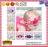 Grosgrain ribbon baby hair bow with elastic band