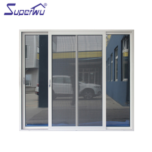 AS2047 Double toughened security mesh aluminum sliding shed door