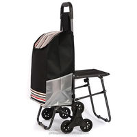 Custom Trolley Shopping Bags With Seat