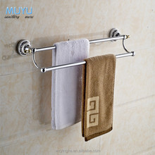 Factory supply stainless steel towel bar toilet double towel bar parts