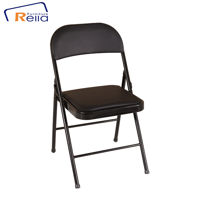 Wholesale cheap metal PU Folding Chair Commercial use