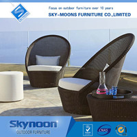 modern outdoor furniture, black wicker chair, new outdoor deck furniture(SF-077)