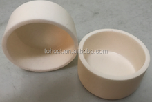 High temperature 1800C small tolerance alumina ceramic crucibles