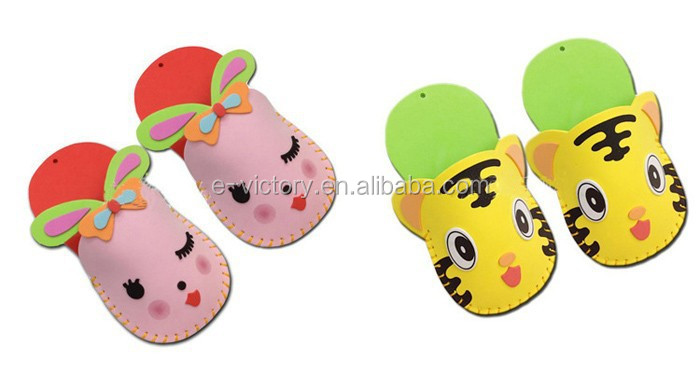 Newest style eva slipper DIY EVA foam craft/ foam slipper