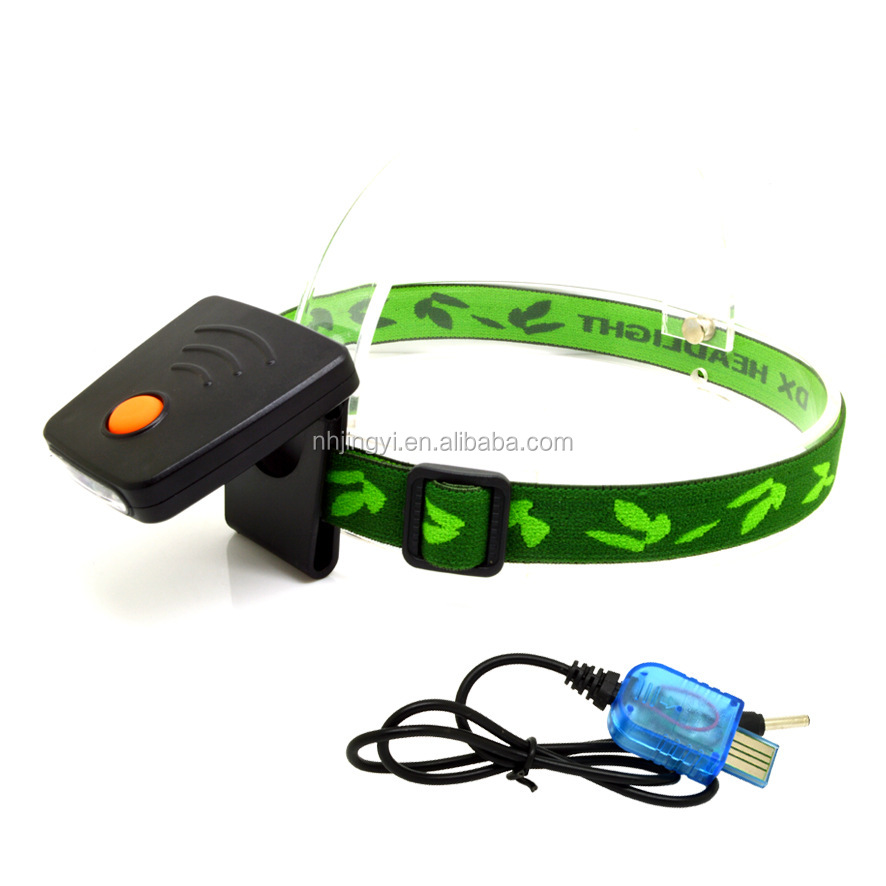 hot sale USB 4 molds headlamp led sensor rechargeable cap light