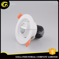 indoor white housing LED SMD downlight 7w for down light dimmable , factory made in China