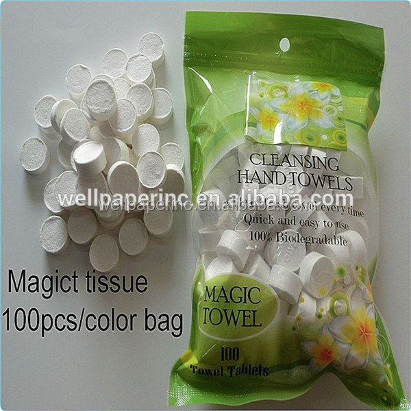 Mini coin tissues compressed towels