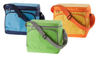 Colorful heavy-duty water-proof disposable thermal insulated shoulder carry polyester lunch 6 pack can oxford cooler bag