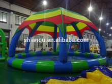 outdoor pool inflatable swimming pool with tent for sale