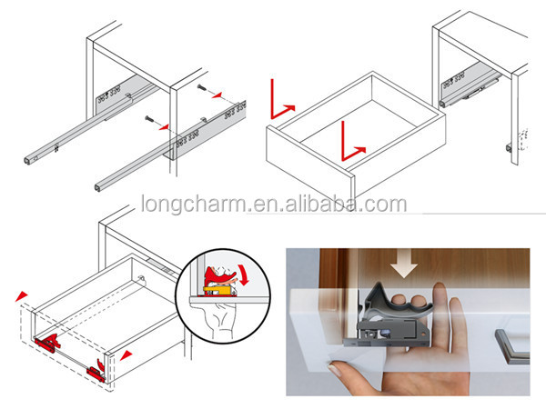 From manufacturer Euro undermount soft close drawer slides