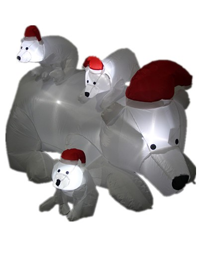 2017 new christmas bear lighted polar sale wear a red hat