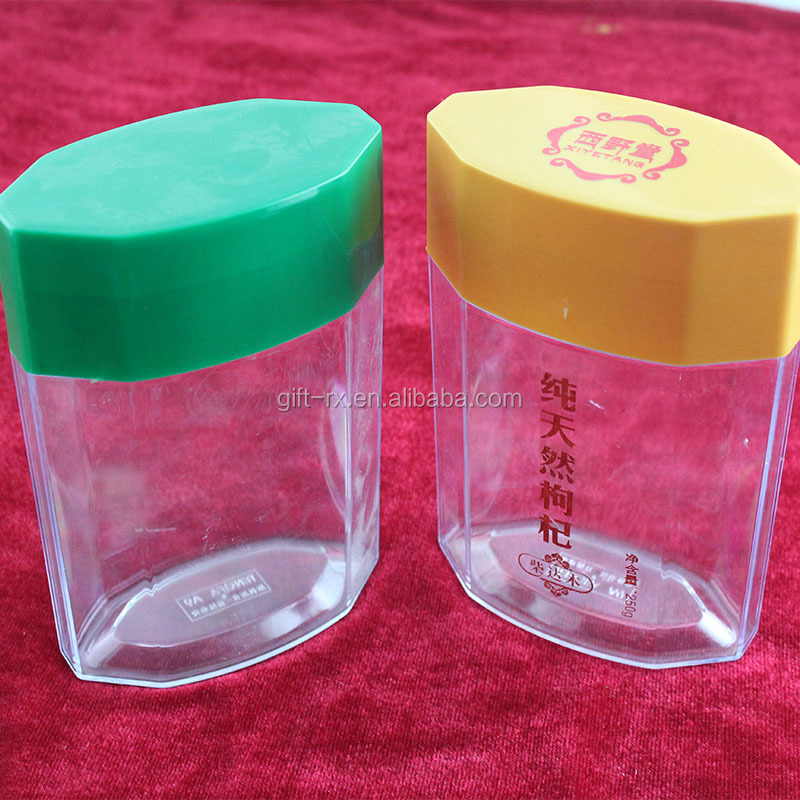 BSCI injection clear plastic pill container food jar packaging bottle