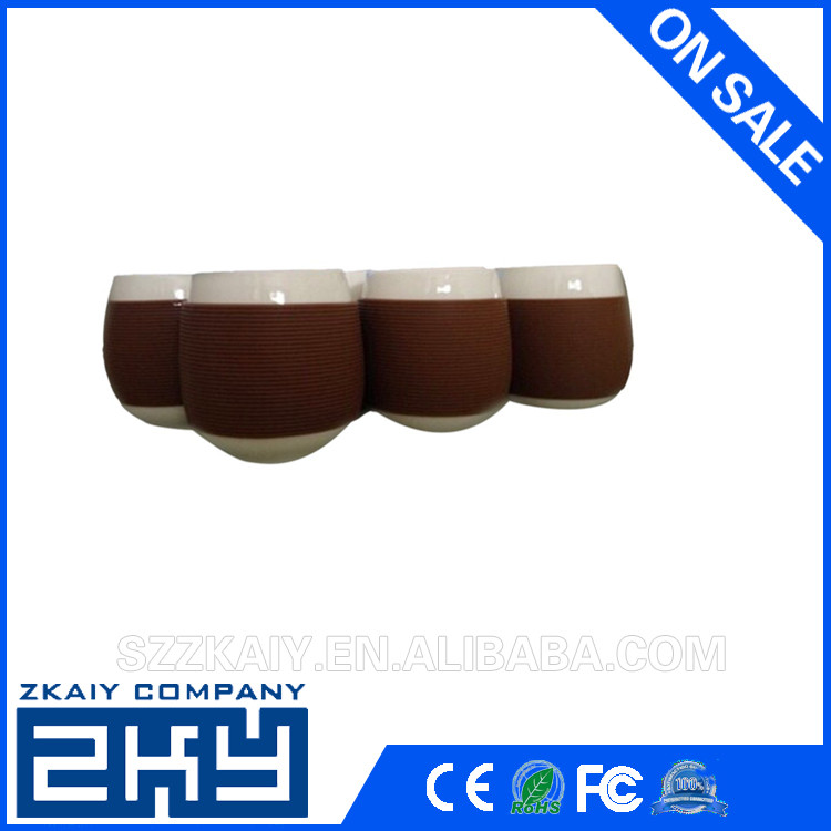 Heat-resistant not slip silicone coffee cup silicone rubber cup sleeve Recycled Silicon Coffee Sleeve Assorted Colors
