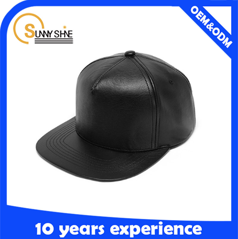 black 5 Panel snapback caps/make your own snapback hats wholesale